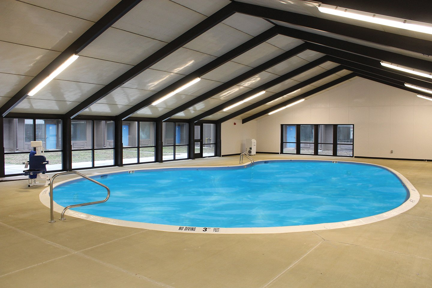 Pool at the Vernon Square apartments, one of many activities for active seniors